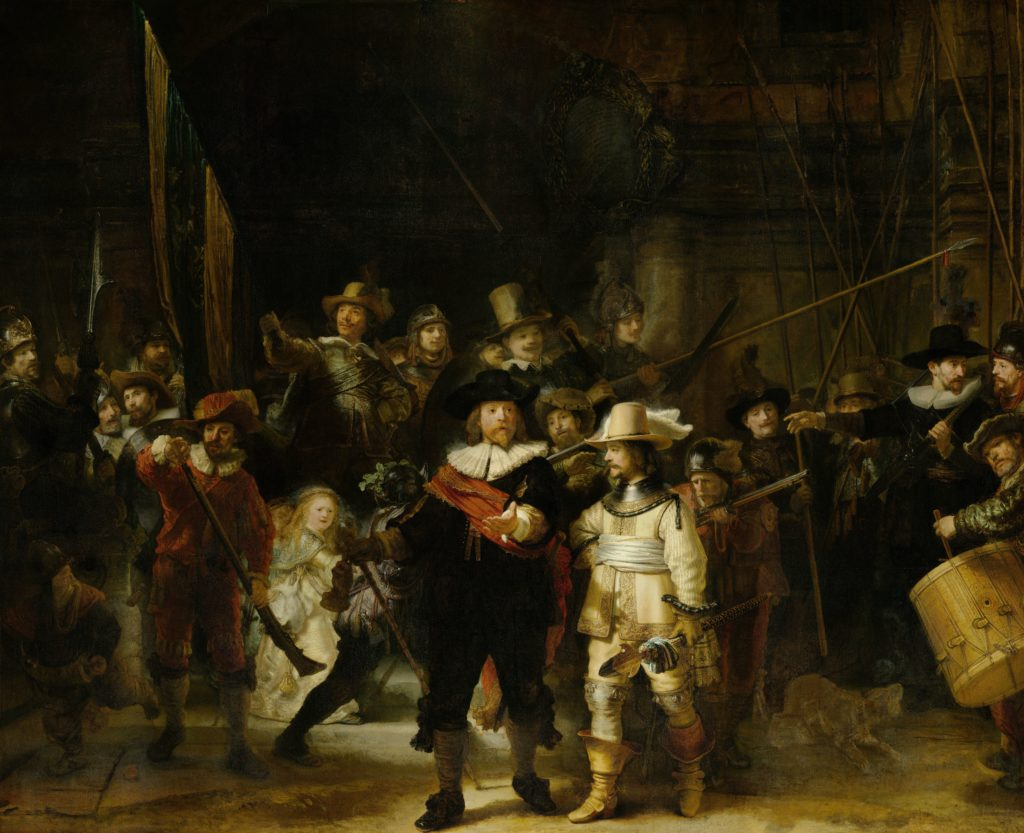 Militia Company of District II under the Command of Captain Frans Banninck Cocq, Known as the 'Night Watch', Rembrandt Harmensz. van Rijn, 1642